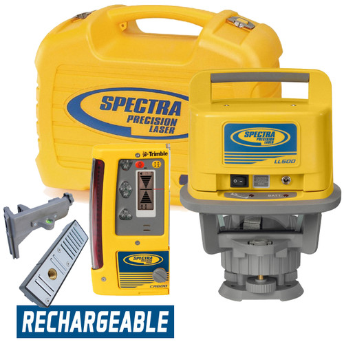 Spectra Precision LL500-14 Long Range Laser Package Rechargeable w/ CR600