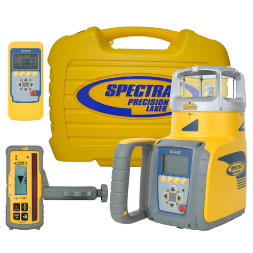 Spectra GL622 Laser Kit with HL750 Laser Receiver, RC602 Remote Control and Protective Hard Case