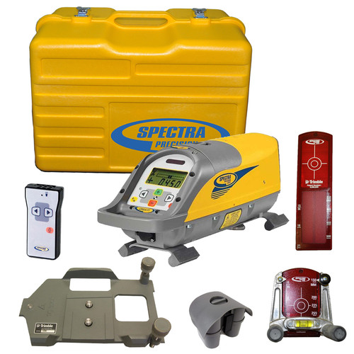 Spectra Precision DG511-3 Pipe Laser includes P23 NiMH Rechargeable Battery Pack, RC501 Remote Control, 956 Pipe Target with 2 Plates, 1238 (8-inch) Invert Plate, 1230 Large Pipe Invert