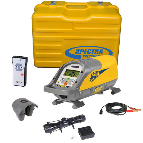 Spectra DG511-13 Pipe Laser with 1233 Scope, P23 NiMH Battery Rechargeable Battery Pack and P21 External Power Supply Cable.