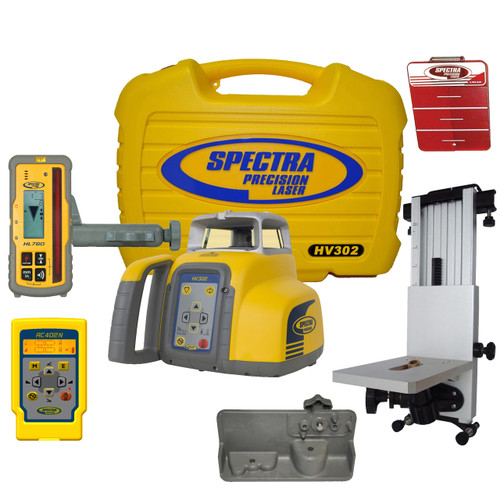 Spectra Precision HV302-7 Horizontal / Vertical Laser GC Package Rechargeable with HL760 Receiver