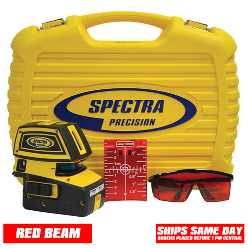 Spectra LT52 Laser Package comes with Laser Target, Laser Glasses and Hard Protective Case