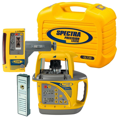 Spectra Precision GL720-10 Dual Grade Laser Package with CR600 Receiver
