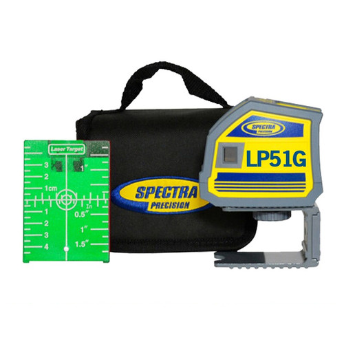 Spectra Precision LP51G Green 5-Beam Point Laser Tool