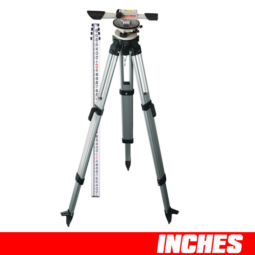 David White L6-20 Meridian Level INCHES Package with Rod and Tripod 44-8824-2