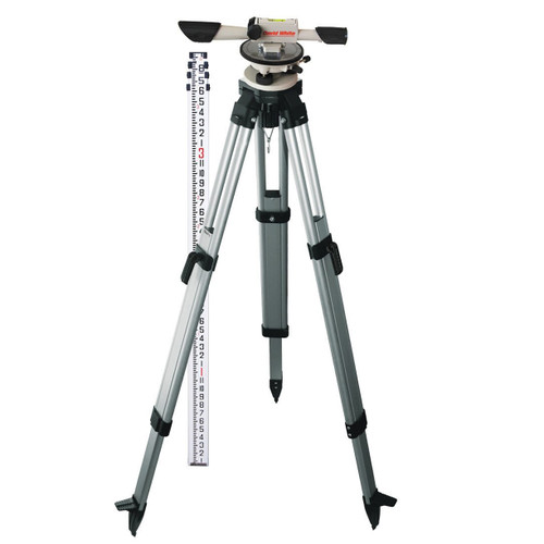 David White L6-20 Meridian Level INCHES Package with Rod and Tripod 44-8824-1C