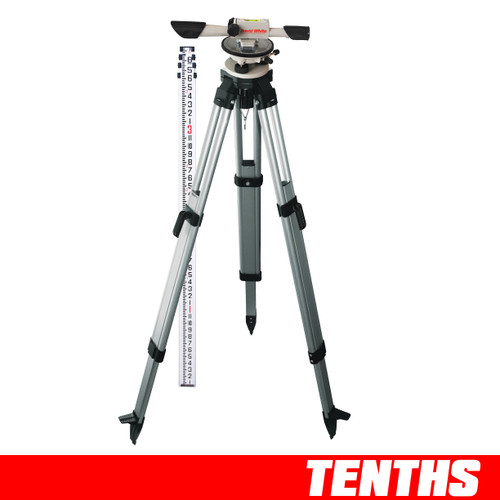 David White Level Package 44-8824 includes L6-20 Level Instrument, Grade Rod - measurement in inches and Aluminum Tripod.
