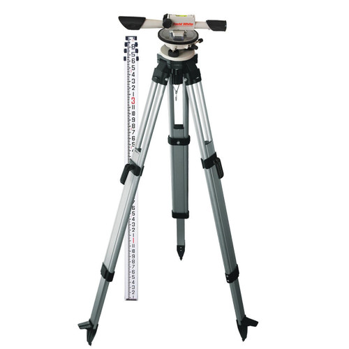 David White L6-20 Meridian Level TENTHS Package with Rod and Tripod 44-8824-1T