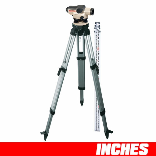 David White AL8-32 Automatic Level Package 32 Power 45-8932-1C INCHES Rod and Tripod