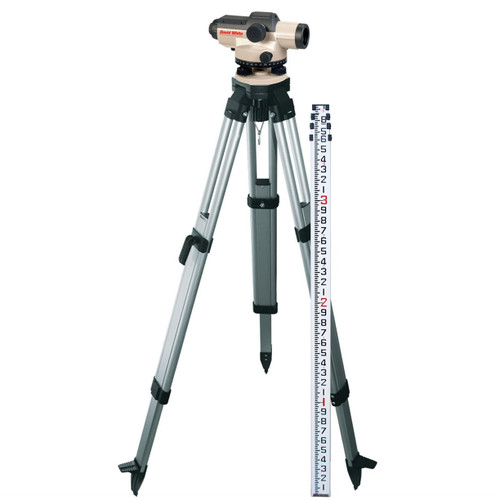 David White AL8-26 Automatic Level Package 26 Power 45-8926-1T TENTHS Rod and Tripod