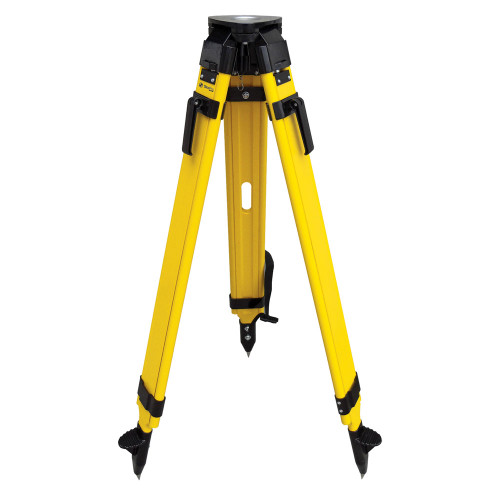 SitePro WDF20-B Wood and Fiberglass Tripod - Heavy Duty - Quick Clamp 42 to 72-inches Extended