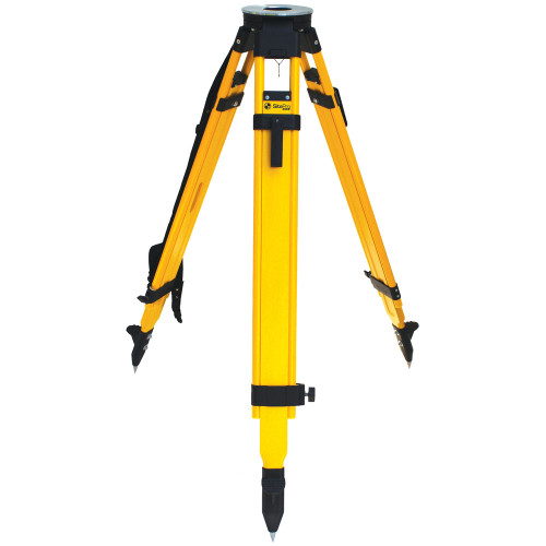 SitePro WDF20-DCB Wood and Fiberglass Tripod - Heavy Duty - Dual Clamp 42 to 72-inches Extended