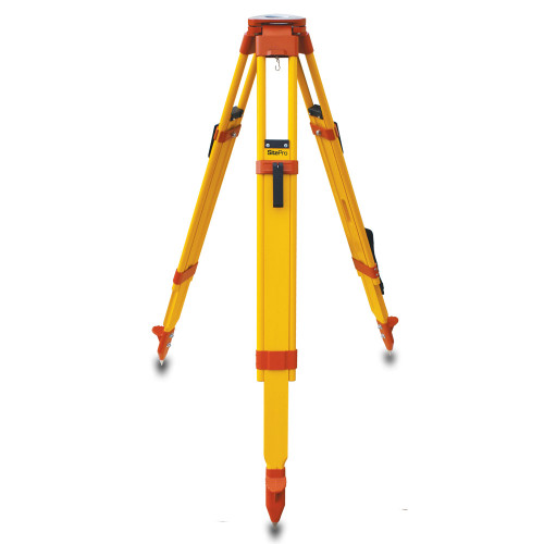 SitePro WDF20-O Wood and Fiberglass Tripod - Heavy Duty - Quick Clamp 42 to 72-inches Extended Orange