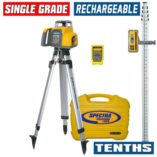 Spectra Precision GL412N-17 Single Grade Laser w/ HL760 Receiver, TENTHS-Rod and Tripod