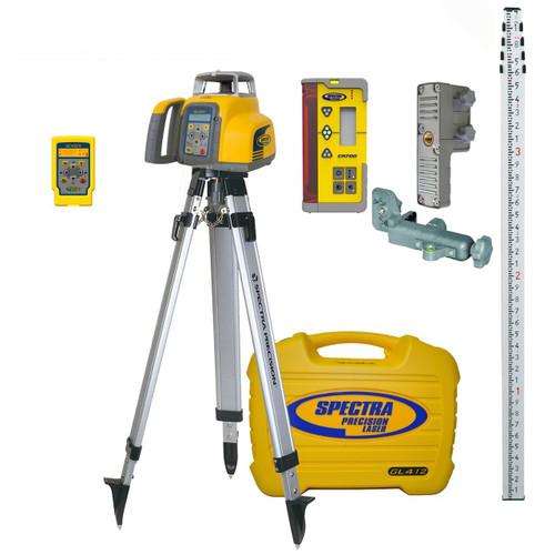 Spectra Precision GL412N-16 Single Grade Laser w/ CR700 Receiver, TENTHS-Rod and Tripod
