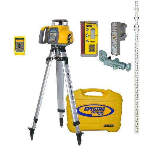 Spectra Precision GL412N-26 Single Grade Laser w/ CR700 Receiver, INCHES-Rod and Tripod