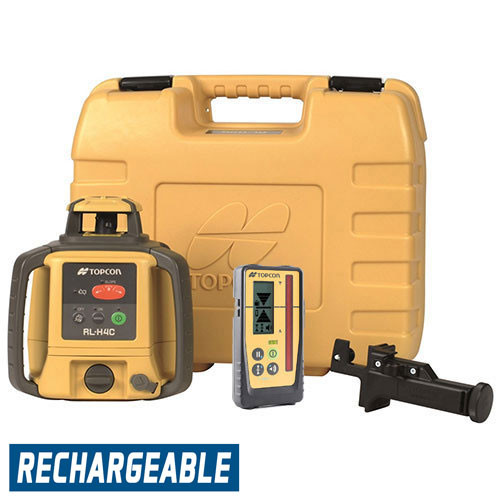 Topcon RL-H4C Self-Leveling Laser RB Kit with LS-100D Receiver and Rechargeable Batteries- 313980772