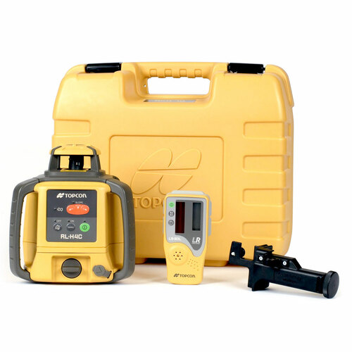 Topcon RL-H4C Self-Leveling Laser DB Kit with LS-80L Receiver and Alkaline Batteries- 313980752
