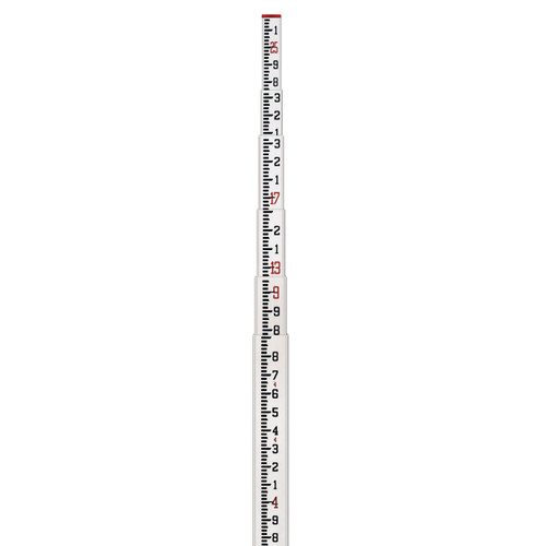 and 10ths Sokkia Aluminum Direct Elevation Rod 10' Graduated in ft