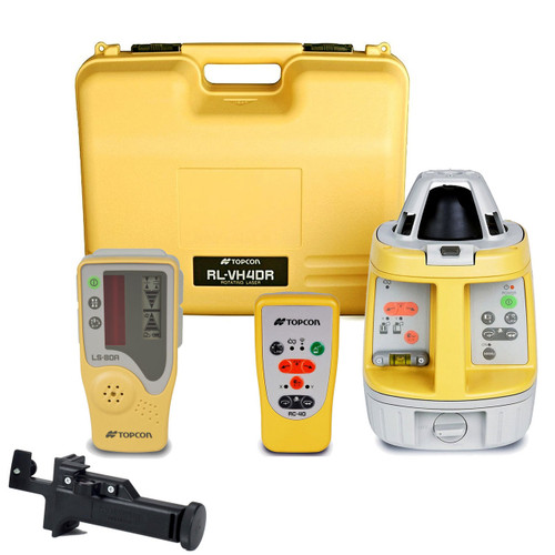 Topcon RL-VH4DR GC General Contractor Horiz / Vert Laser Package, w/ LS-80A Receiver and RC40 Remote (313750722)