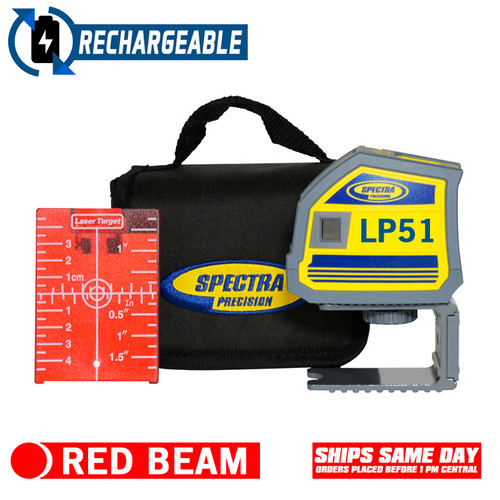 Spectra Precision LP51 Red 5 Beam Pointing Laser