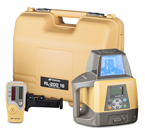 Topcon RL-200 1S Single Slope Grade Laser Package, w/ LS-80L Receiver (314910702)