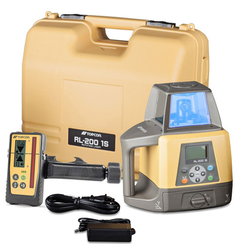 Topcon RL-200 1S Single Slope Grade Laser Package, w/ LS-100D Receiver (314910782) Rechargeable Batteries