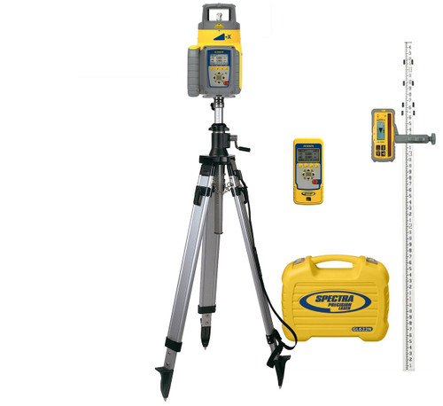 Spectra Precision GL622N-29 Dual Grade Laser INCHES Package with HL760 Receiver, Remote and Elevator Tripod