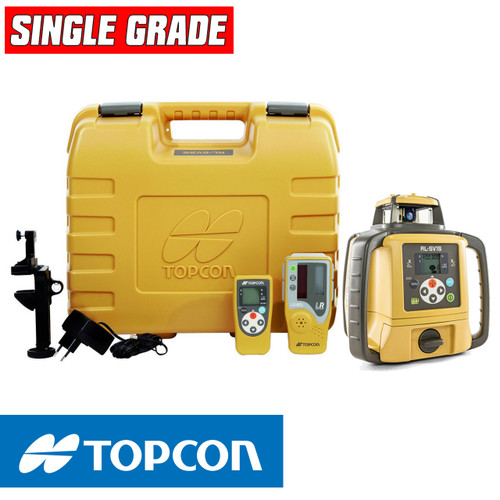 Topcon RL-SV1S Self-Leveling Single Grade Laser DB Kit with LS-80L Receiver and Alkaline Batteries- 313990756