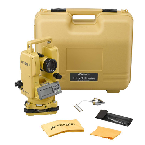 Topcon DT207L Digital Theodolite Kit with Laser and 7 Second Accuracy - Model 303217121