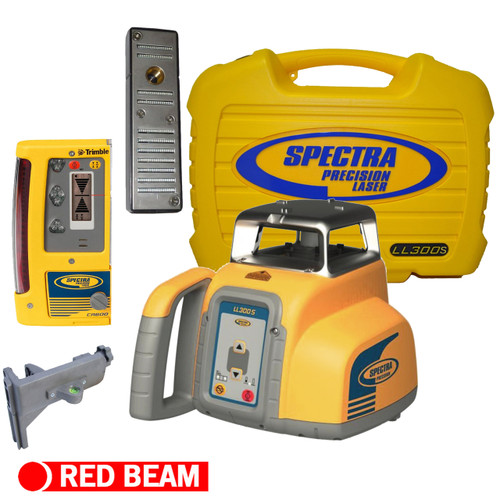 Spectra Precision LL300S-6 Laser level Package with CR600 Machine or Rod Mount Receiver