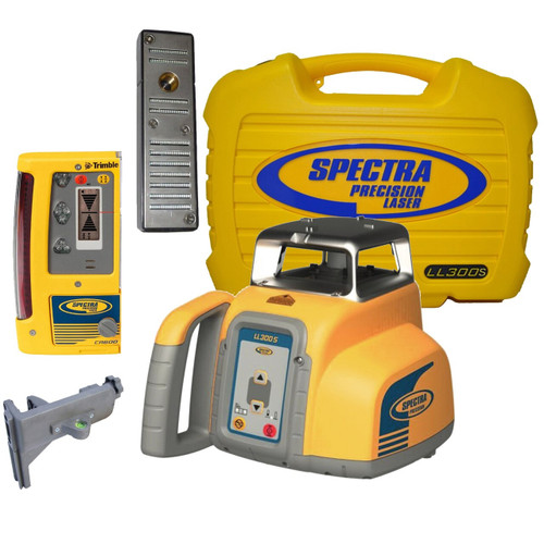 Spectra Precision LL300S-6 Laser level Package with CR700 Machine or Rod Mount Receiver