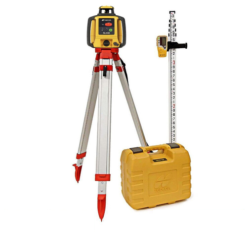 Topcon RL-H5A Self-Leveling Laser PS.DB Kit with LS-80L Receiver,  Alkaline Batteries, Measuring Rod 10ths and Tripod - 1035258-01