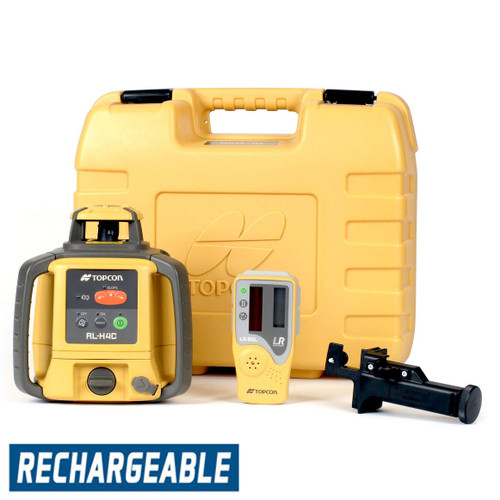 Topcon RL-H5A Self-Leveling Laser PS.RB Kit with LS-80L Receiver, Rechargeable Batteries, Measuring Rod INCHES and Tripod - 1021200-06-K2