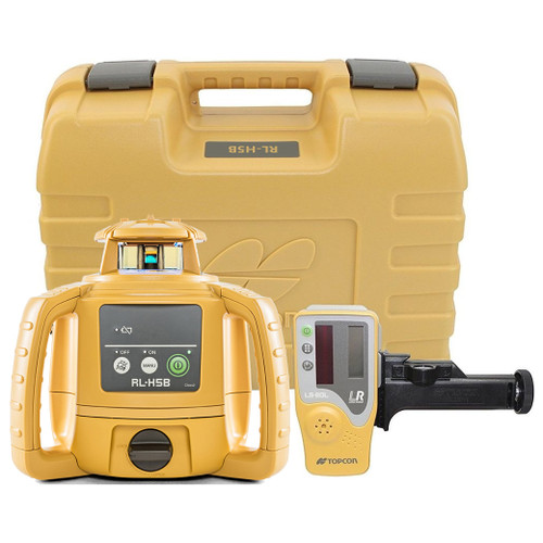 Topcon RL-H5B Self-Leveling Laser PS.DB Kit with LS-80L Receiver, Alkaline Batteries, Grade Rod INCHES and Tripod - 1021200-31-K2