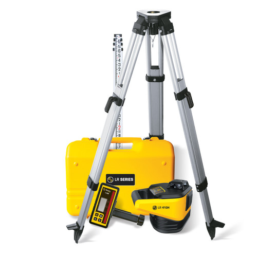 SitePro 27-LR410H-4C Horizontal Rotary Laser Package with Measuring Rod INCHES and Tripod