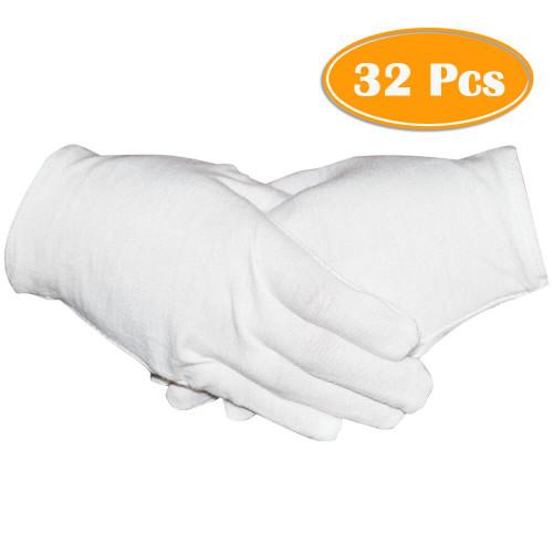 GLOVE COTTON WHITE MEDIUM 1pr/pkg 465-GEOM
