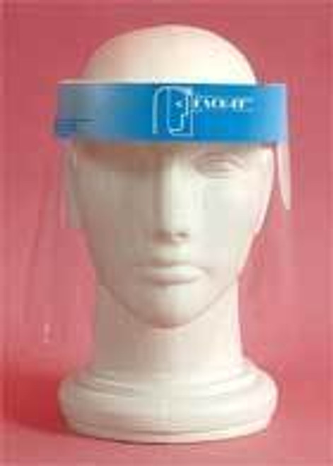 SHIELD FACE FULL DISP w/FOAM HEAD BAND CA/100 P40 007-16000-100