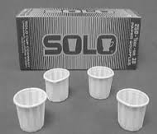 1/2 oz Paper Pleated Flat Bottom Medicine Cup (584-051065)