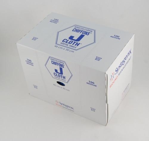 J-Cloth Med 30 x 46cm Blue 100/bx (421-H1634)