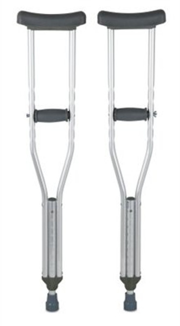 CRUTCH ALUMINUM w/ACCY YOUTH 4ft 6in - 5ft 2in 350lb CAP PAIR 660-10401-8