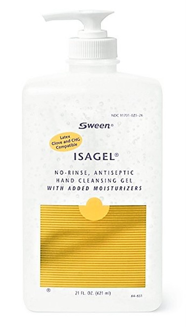 SWEEN ISAGEL Antiseptic HAND CLEANSIN GEL 21oz (621mL) bottle with pump 12/Case (310-1645)