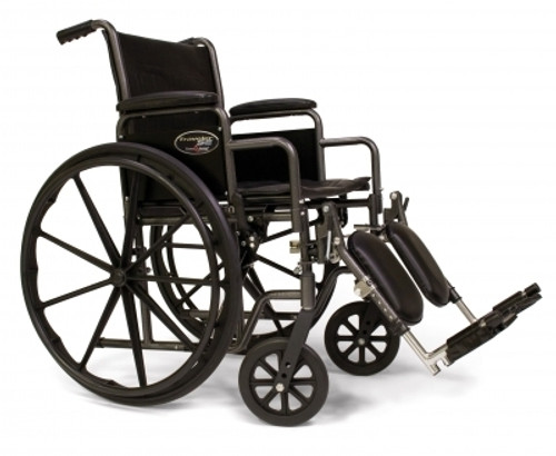 WHEELCHAIR TRAVELER SE 18 x 16in w/ DET FULL ARMS & S/AWAY FOOTRESTS 139-3E010140
