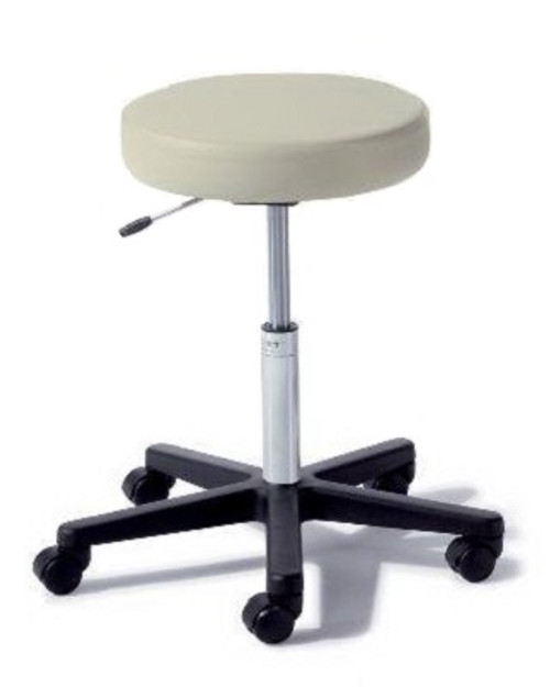 Midmark 272-001-857 Air Lift Stool Ritter® 272 Value Series Backless Air Lift, Pneumatic Height Adjustment, Single Lever 5 Casters Obsidian, Each