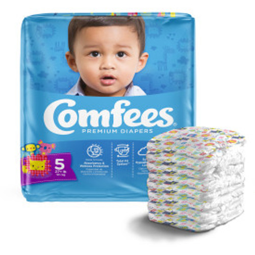 Attends CMF-5 41541 COMFEES DIAPER BABY, SIZE 6, 4 x 27s, Case