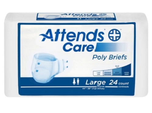 Attends Healthcare Products BR30 Unisex Adult Incontinence Brief Attends® Care Large Disposable Moderate Absorbency, 24/BG, 3BG/Case
