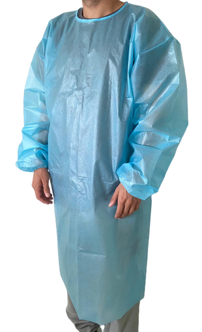 Disposable Level 2 Isolation Gown, Peva, 40 GSM, Case of 50, Case
