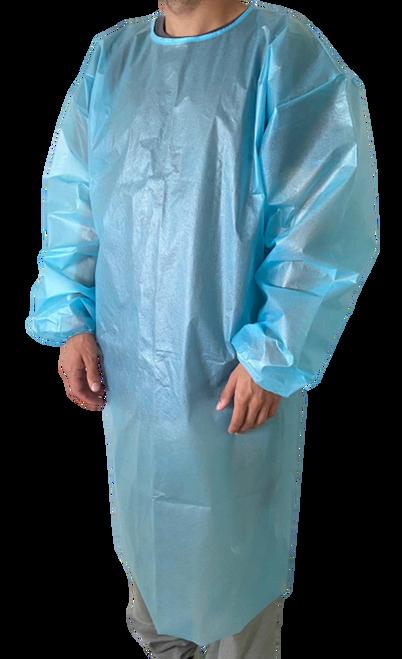 Saxon 2310 Disposable Level 2 Isolation Gown, PEVA, 40 GSM, Case/100, Case