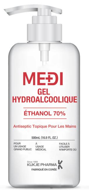 KUKJE Pharma MEDI Gel Ethanol 70% Antiseptic Hand Sanitizer, 500ml/bottle, Each