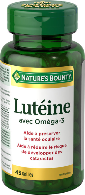 NATURE'S BOUNTY LUTEIN with OMEGA-3, 20MG 45 CAPSULE